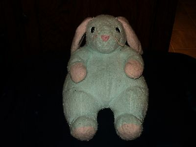 Ty Pillow Pal Bunnybaby Pastel Green Pink Plush Beanie Baby Rattle