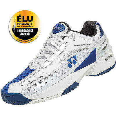 Yonex Power Cushion 308EX Stan Wawrinka Tennis Shoes White Blue 8.5 UK size