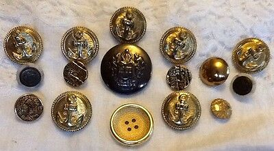 Mixed Gold Buttons In Different Designs