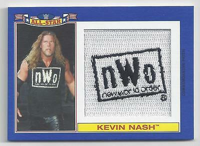 2016 Topps Wwe Heritage All Star Patch Blue Card Kevin Nash #13/25