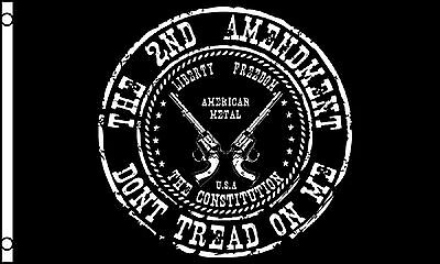Don't Tread On Me Flag 3' x 5' 2nd Amendment Banner MADE IN USA