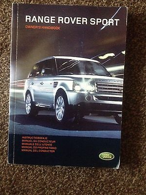 Range Rover Sport Handbook Owners Manual 2005 2009  339 Pages
