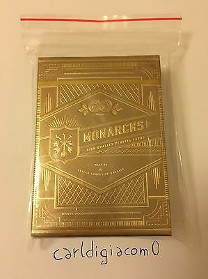 Gold Monarchs Playing Cards Theory11 Very Rare (New And Sealed)