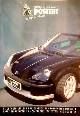 TOYOTA MR2 ROADSTER ACCESSORIES and WHEELS  BROCHURE  By POSTERT ESSEN