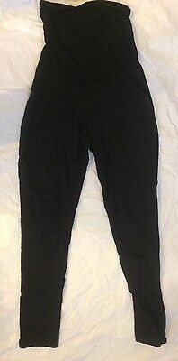 Maternity Black Stretch Pants Size Medium Oh Baby! By Motherhood Leggings