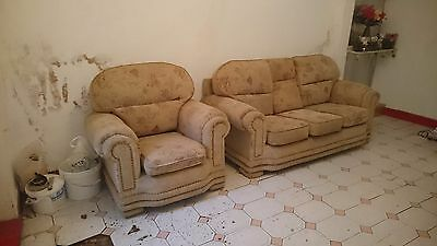 2 piece suite armchair and 3 seater sofa