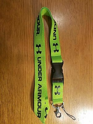 New Green Under Armour Lanyard Key Chain Neck Camera Cell Phone Strap