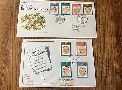GB 1980 British Conductors Official First Day Covers