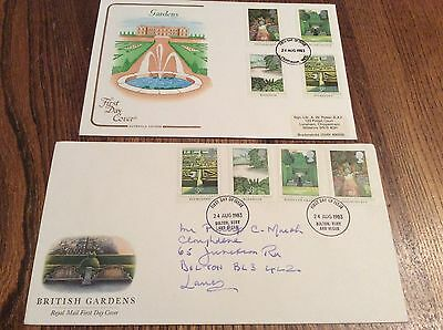 GB 1983 British Gardens First Day Covers