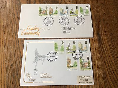 GB 1980 London Landmarks, Official First Day Covers