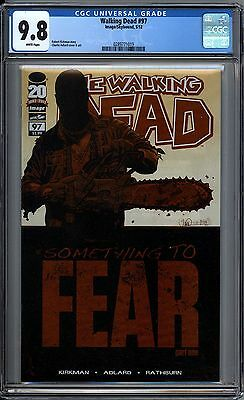 The Walking Dead 97 CGC Graded 9.8 Something To Fear Image Comics 2013