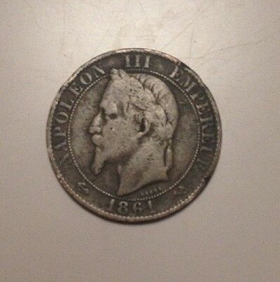 1864 Cing Centimes Coin