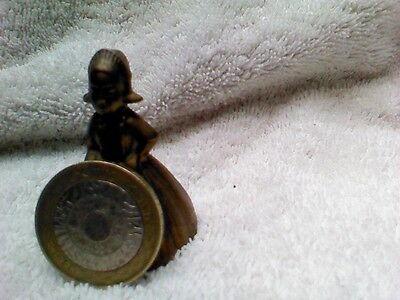 vintage brass lady table bell