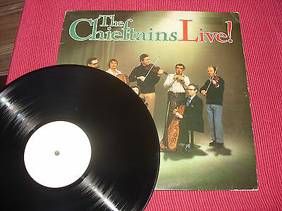 The Chieftains: Live   UK  1977   White Label/Test Pressing  LP   EX