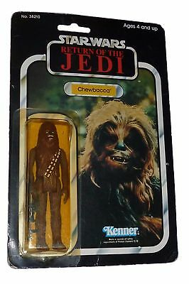 Vintage Star Wars Chewbacca carded Action Figure Return of the Jedi Moc 77 Back