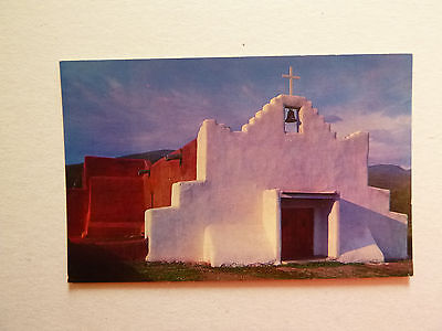 Church in the Indian Village of Picuris, NM, Color Photo