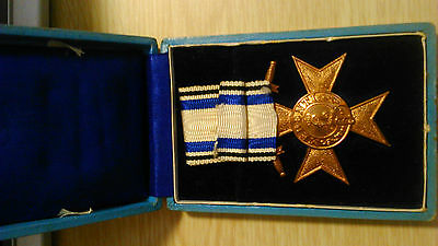 German Wwi Medal Bavaria Military Merit Order 3Th Class  Swords With Box