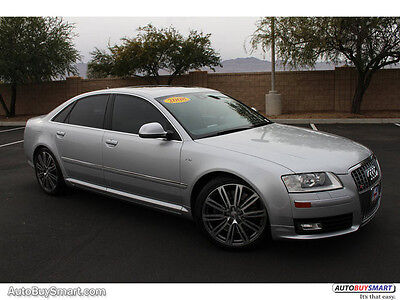 2008 Audi S8 5.2 2008 Silver 5.2 v10. B&O and More!