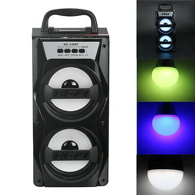 Double Horn Multimedia Bluetooth Wireless Portable Speaker Super Bass with USB/T