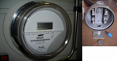 ITRON Electronic Electric 120v 240v WATTHOUR METER & NEW 100amp SOCKET Sub-meter
