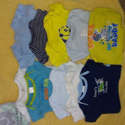 Newborn Shortsleeve Onesies 10 pieces