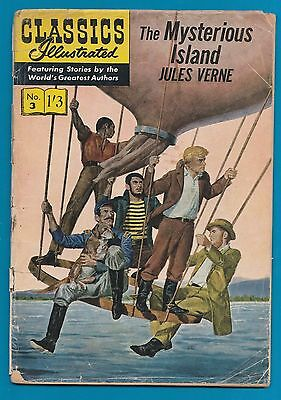 Classics Illustrated Comic Book # 3 The Mysterious Island by Jules Verne   #804