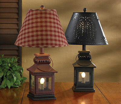 "RED IRON LANTERN COUNTRY PRIMITIVE RUSTIC LAMP BASE 20"" X 5.5"" by Park Designs"