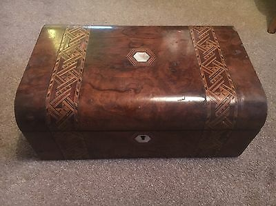 Antique Writing Slope Walnut Marquetry Restoration Project