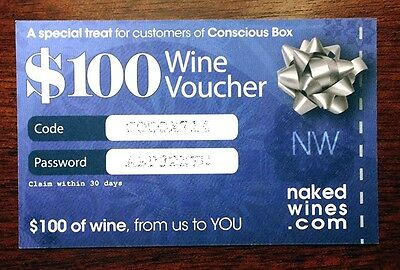 $100 Naked Wines Discount Voucher