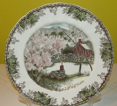 """Johnson Brothers China Friendly Village 10"""" Large Dinner Plate The Well England!"""