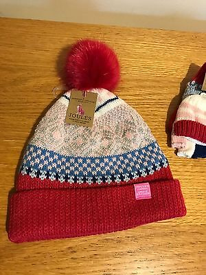 Joules Faith girls hat and glove set - Size S/M