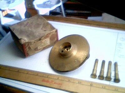 Deming centrifugal pump IMPELLER + Brass Bolts vintage old jet hyraulic Gould