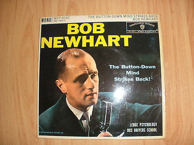 """The Button-Down Mind Strikes Back by Bob Newhart 7"""" EP vinyl (1960)"""