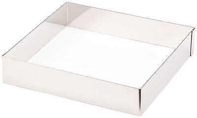 Lacor-68240-ST. STEEL SQUARE PASTRY MOULD 20X20 CMS.