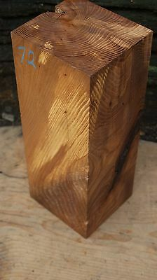 SQUARE EDGE ELM, CRAFTS, WOOD TURNING, SPINDAL 355 L x  138 W x 128 D mm (72)