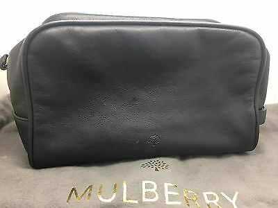 Navy Mulberry Wash Bag Toiletry Bag Rare Rrp£299