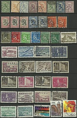 Finland 43 stamps, early to onwards, used as scan. Lot 2
