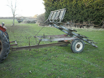 Old Farm Tipping Trailer Horse Cart