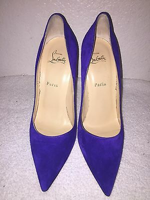 Christian Louboutin So Kate 120 Purple Suede Violet Pointed Heel Pump Size 40/10