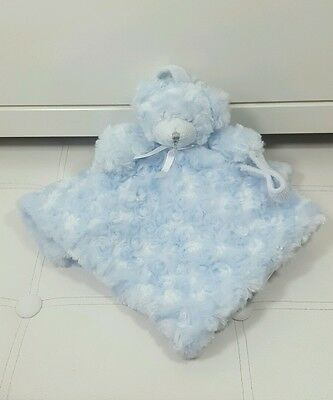 Blue Teddy Bear Baby Comforter Soft Toy Blankets And Beyond Blankie Blanket Dou