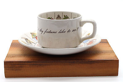Vintage The Taltos Fortune Telling Teacup and Saucer by Jon Anton England