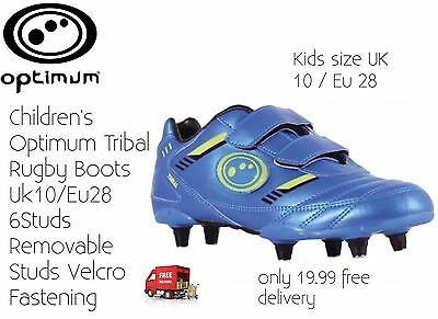 Children's Rugby Boots Optimum Tribal 6Stud Size10 New