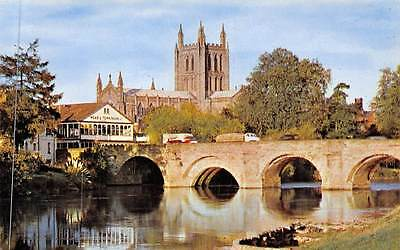 Hereford The Cathedral Bridge Vintage Cars Dom Brucke