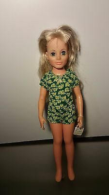 Vintage 1970 Ideal Kerry doll- Crissy Family,Blond Hair Grow Family Free Ship
