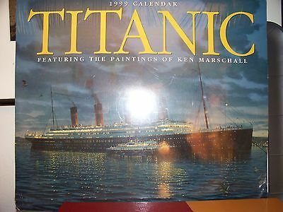TITANIC 1999 Calendar New and Sealed featuring the paintings of ken marschall