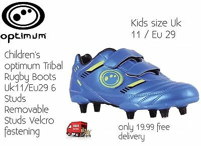 Children's Rugby Boots Optimum Tribal 6Stud Size11 New