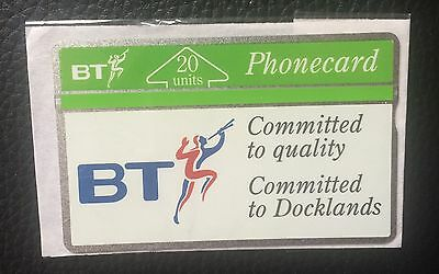 BT Phonecard - Committed To Docklands Mint Condition