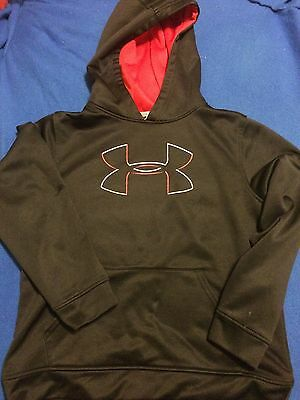 Under Armour Black Youth Large Hoodie Pullover Sweater FREE SHIPPING