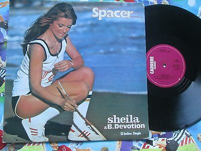 Sheila & B. Devotion ‎– Spacer Carrere CAR 128 T UK Vinyl 12inch Maxi-Single