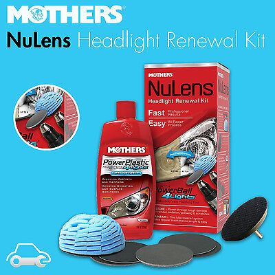 Mothers Headlight Renewal Restoration Kit - Clears Your Lenses - Made in USA